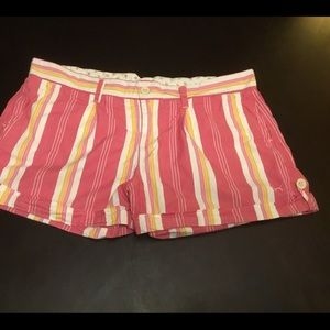 PINK Victoria's Secret Shorts - PINK Victoria's Secret Womens Striped Shorts Sz 10